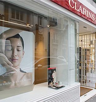 Visuel boutique Clarins