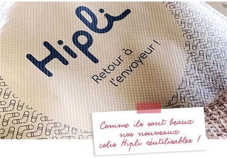 Visuel colis Hipli réutilisable - Clarins