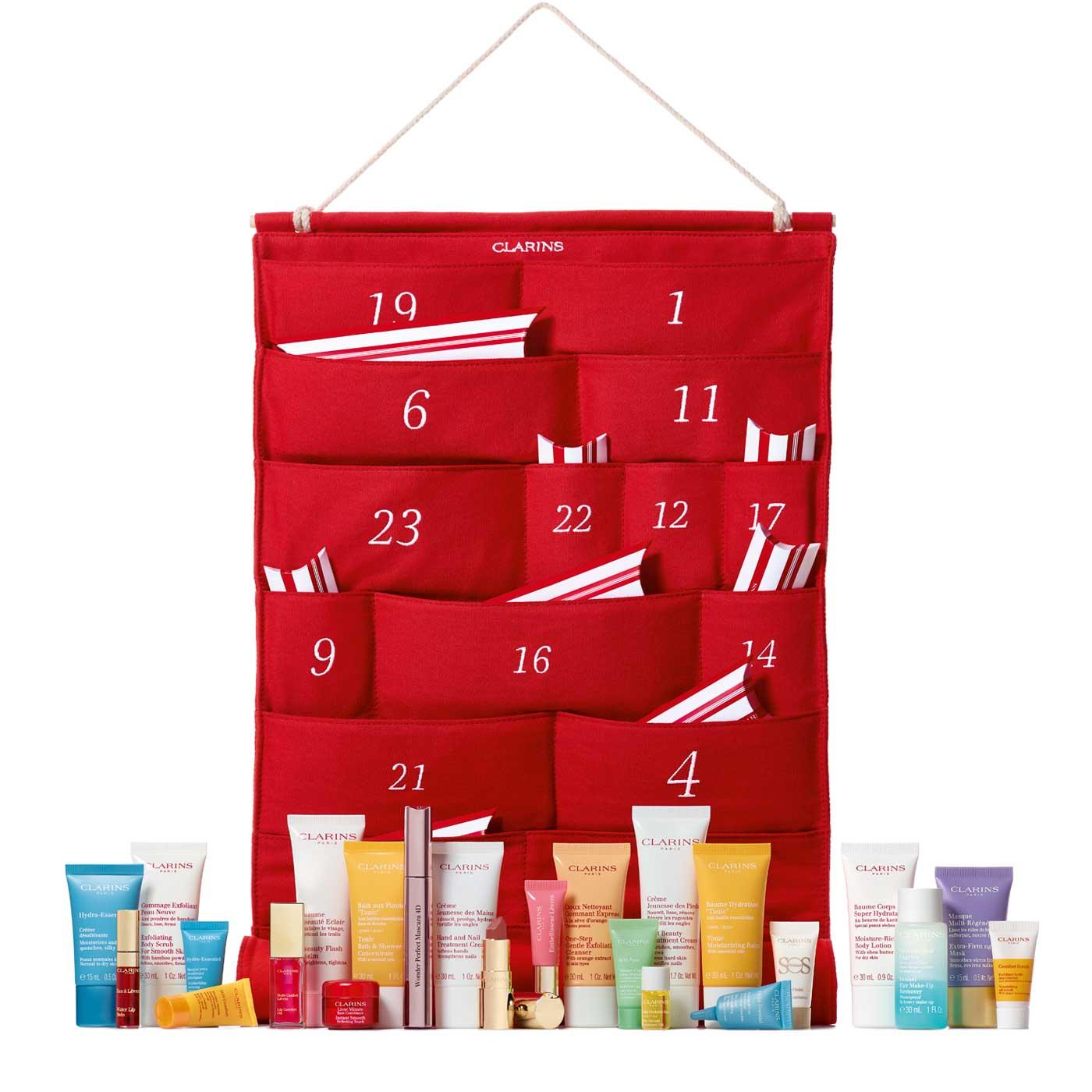 Le calendrier de Clarins est en coton pour moins de déchets